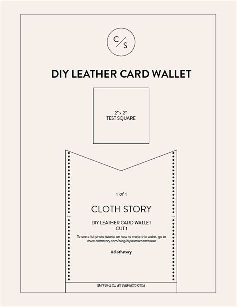 printable leather wallet pattern diy leather card wallet with free printable pattern