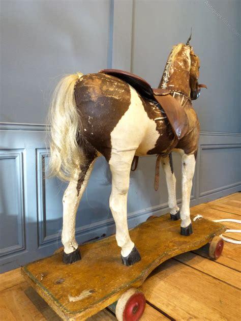 antiques atlas horse folk art pull along childs german antiques atlas victorian pony skin pull along horse