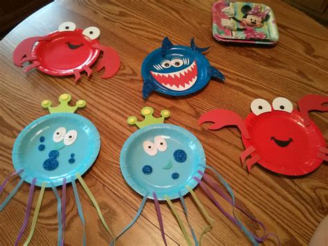 sea creature crafts for craft 365 day 124 sea paper plates