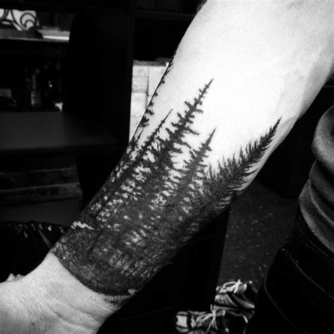 pine tree wrist tattoo 70 pine tree ideas for wood in the wilderness