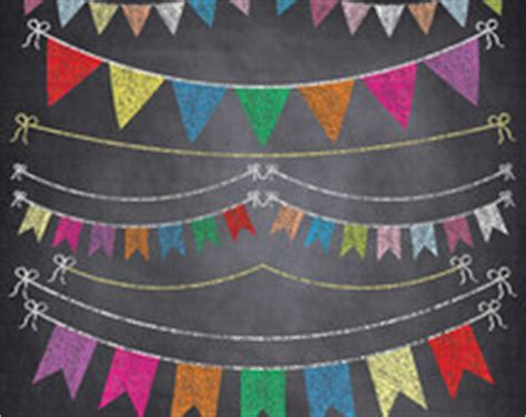 Sale Bunting Flag Hbd Colorful unique chalkboard clipart related items etsy