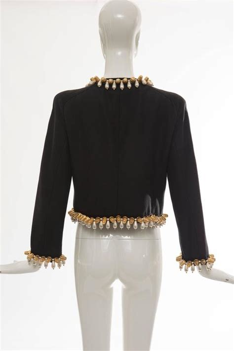 Sale Jacket 3 In 1 World Chion moschino jacket with thimble and pearl adornments for sale at 1stdibs