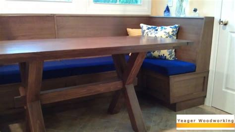 built in bench in kitchen yeager woodworking heirloom furniture