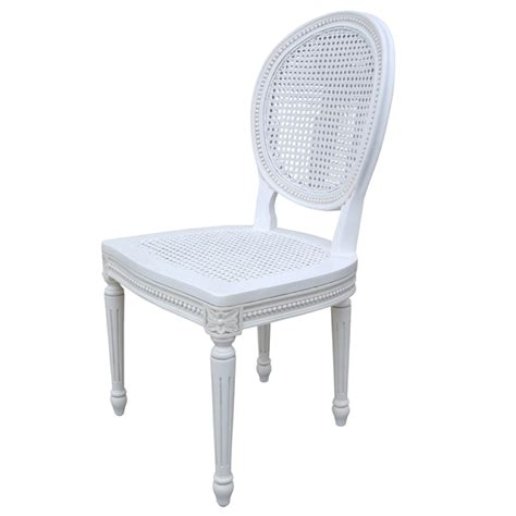 White Rattan Dining Chairs Chateau White Rattan Dining Chair
