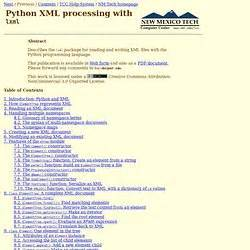 python xml tutorial elementtree learning pearltrees