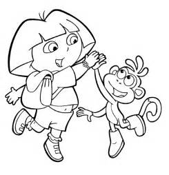 These Dora And Diego Coloring Pages For Free  sketch template
