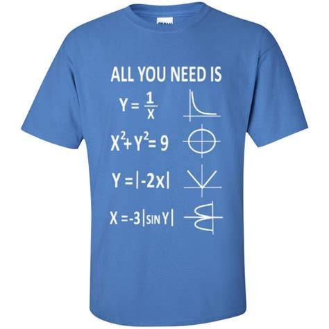 all you need is and a all you need is math t shirt teeholic