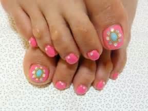 new pretty summer toe nail art designs step by step