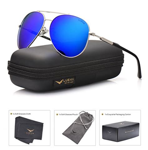 Sunglasses Import Dgn Lensa Polarized Anti Uv Protection luenx mens womens aviator sunglasses polarized with
