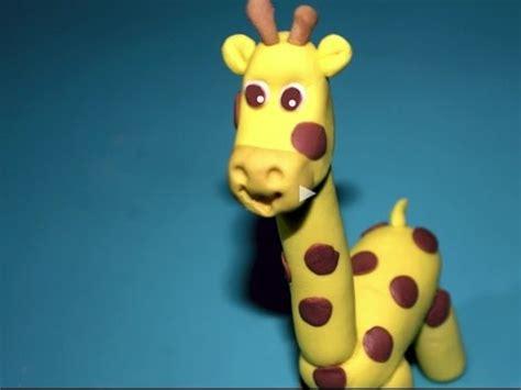 como hacer una jirafa en plastilina tutorial de como hacer una jirafa de plastilina paso a paso pol doovi