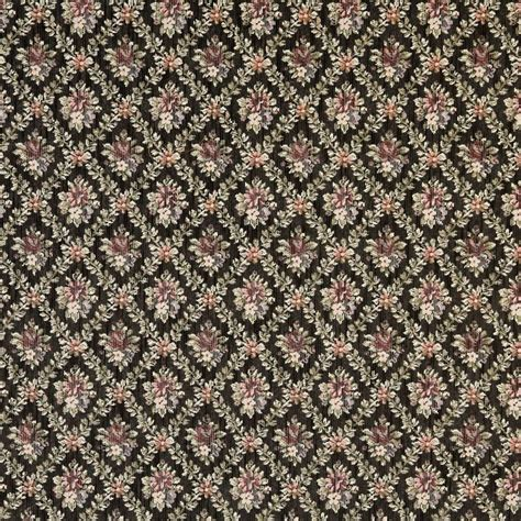 red floral upholstery fabric f916 black red and green floral diamond tapestry