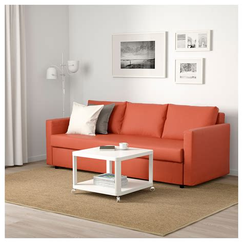 friheten ikea sofa friheten three seat sofa bed skiftebo dark orange ikea