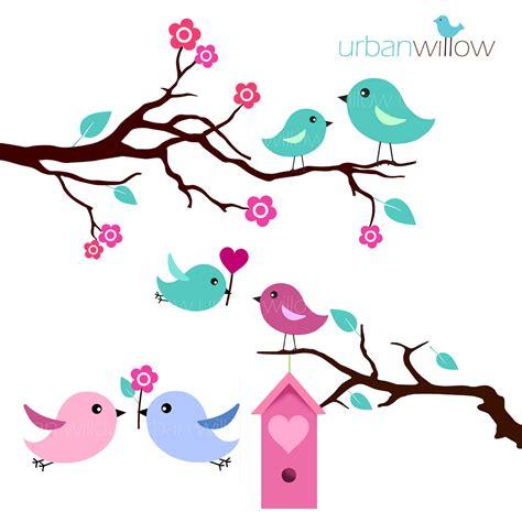 birds clipart mint birds clip set in jpeg png files