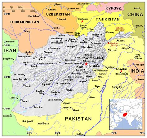 political map of afghanistan maps of afghanistan detailed map of afghanistan in