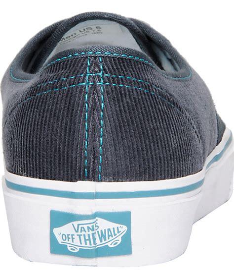 Vans Authentic Port Grey Blue vans authentic grey blue corduroy shoes zumiez
