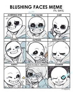 Sexy Face Meme - sans undertale i love thee facial expressions i need