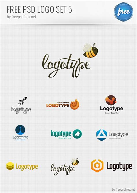free psd logo design templates pack 5 free psd files