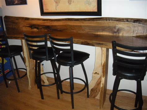 Live Edge Bar Table Live Edge Walnut Bar Top And Table Deerbrianinc