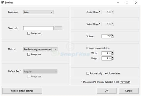 format file audiophile audio video to exe screenshot and download at snapfiles com