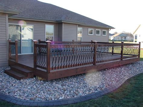 deck spindles metal deck design and ideas