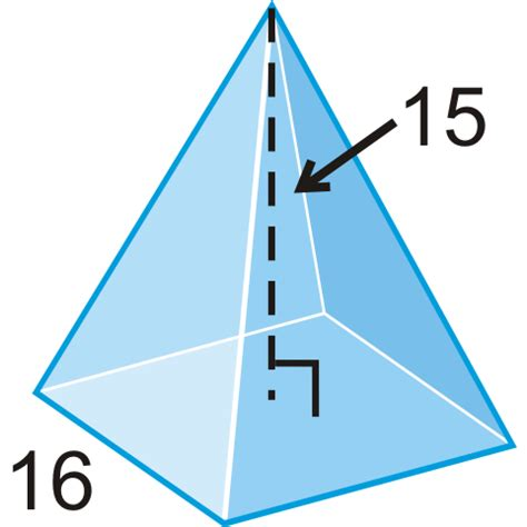 volume pyramid surface area and volume of pyramids read geometry