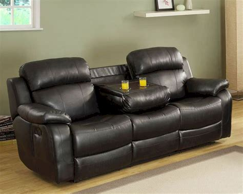Black Reclining Sofa Black Reclining Sofa Marille By Homelegance El 9724blk 3