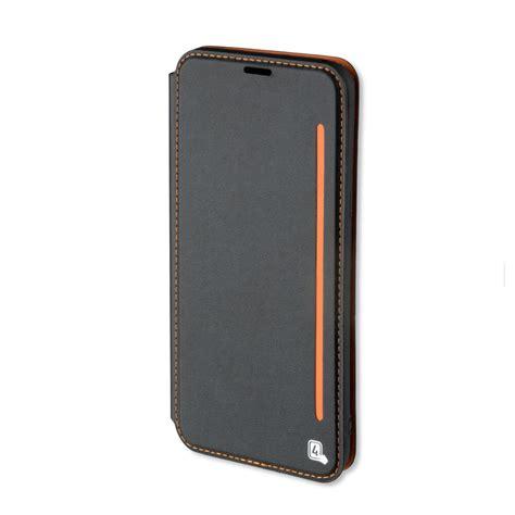 handphone iphone x flip 4smarts flip two tone кожен калъф с поставка и