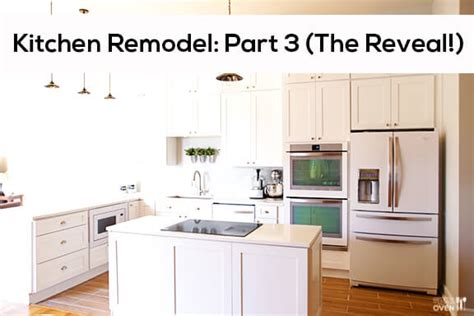 Kitchen Makeovers With White Appliances Kitchen Remodel Part 3 The Reveal