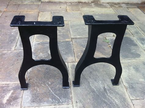 30 5 industrial cast iron table legs vintage