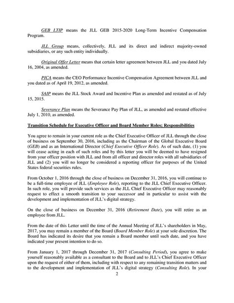 Severance Agreement Negotiation Letter 19 beautiful severance agreement negotiation letter pics