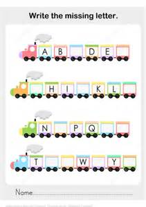 printable missing word games write the missing letter of the alphabet worksheet with