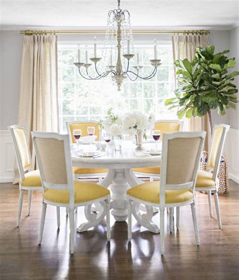 yellow dining room table 25 best ideas about yellow dining chairs on pinterest