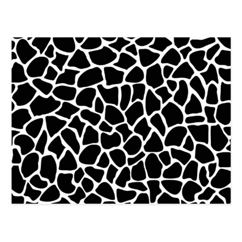 black and white animal pattern black and white animal print giraffe pattern postcard zazzle