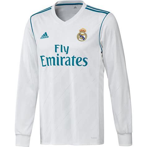 Tshirt Real real madrid shirt thuis senior 2017 2018 longsleeved