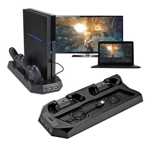 Kaos Gadget Playstation 4 Design aliexpress buy 2016 newest design mutilfunction cooling fan cooler vertical stand for ps4