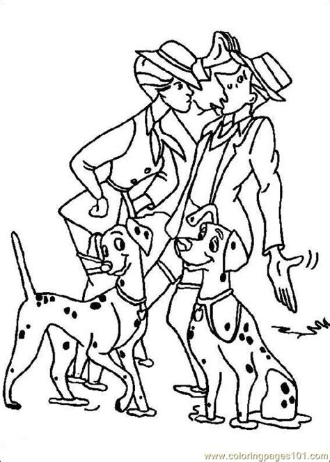 free coloring pages of 101 dalmations
