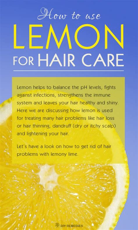 how to use lemon for hair care