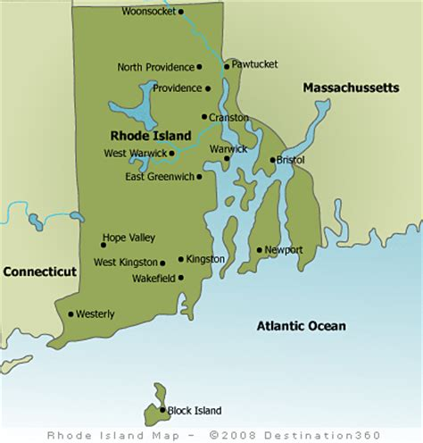 rhode island city map new news map of rhode island and surrounding states