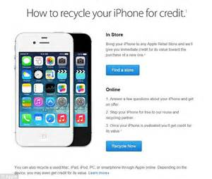 iphone trade in deals apple starts paying you to buy its iphone in trade in scheme daily mail