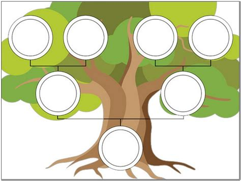 editable family tree template for children pictures