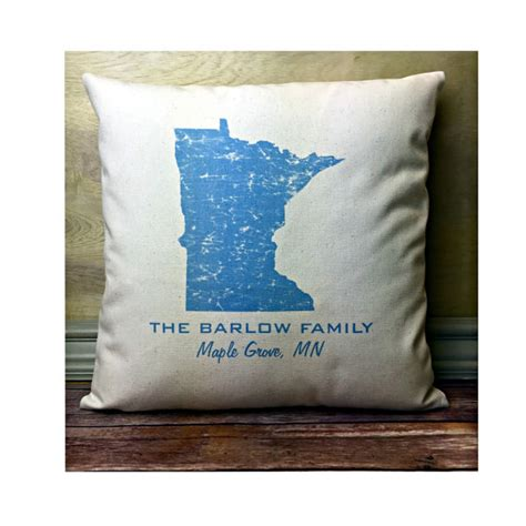 minnesota pillow state pillow personalized state pillow