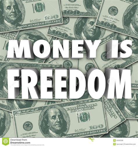 Security Or Freedom And Independence Essay by Money Is Freedom Financial Security Independence Stock Illustration Image 55332336