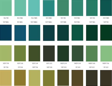 shades of green color chart shades of green color chart www imgkid com the image
