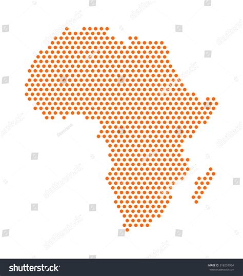 africa map design abstract digital africa map dots orange stock vector