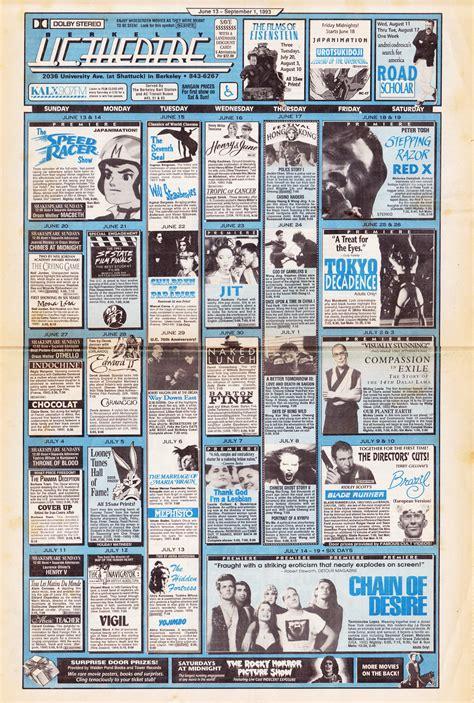 Theater Calendar Uc Theatre Calendar June 13 September 1 1993 Uc Theatre