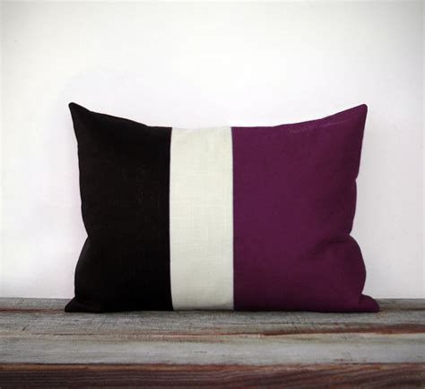 Eggplant Pillows by Eggplant Colorblock Stripe Pillow In And By
