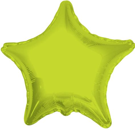 18 Opaque Balloon Transparent solid lime green