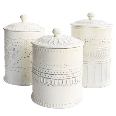 kitchen canisters white white farmhouse kitchen canisters quicua