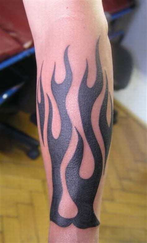 flame wrist tattoos black tribal on arm sleeve