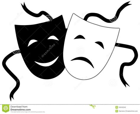 imagenes en blanco y negro de teatro театральные маски иллюстрация штока иллюстрации